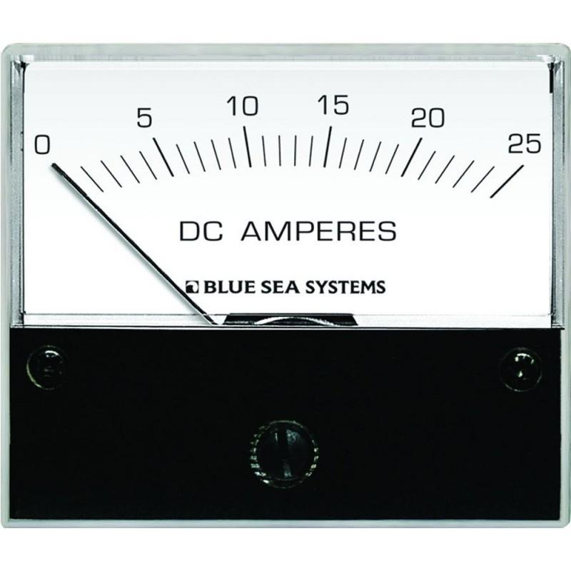 Blue Sea 8005 DC Analog Ammeter - 2-3-4- Face- 0-25 Amperes DC