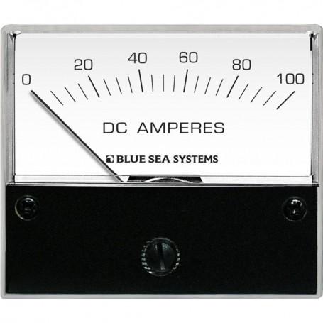 Blue Sea 8017 DC Analog Ammeter - 2-3-4- Face- 0-100 Amperes DC