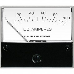Blue Sea 8017 DC Analog Ammeter - 2-3-4- Face- 0-100 Amperes DC