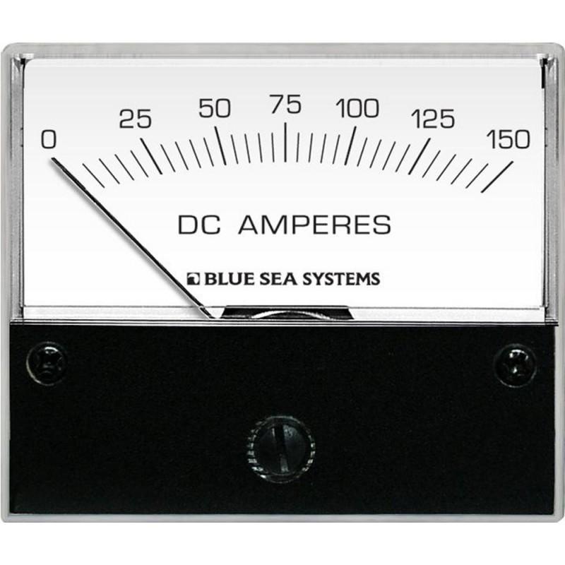Blue Sea 8018 DC Analog Ammeter - 2-3-4- Face- 0-150 Amperes DC