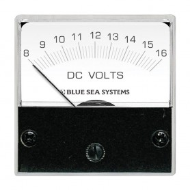 Blue Sea 8028 DC Analog Micro Voltmeter - 2- Face- 8-16 Volts DC