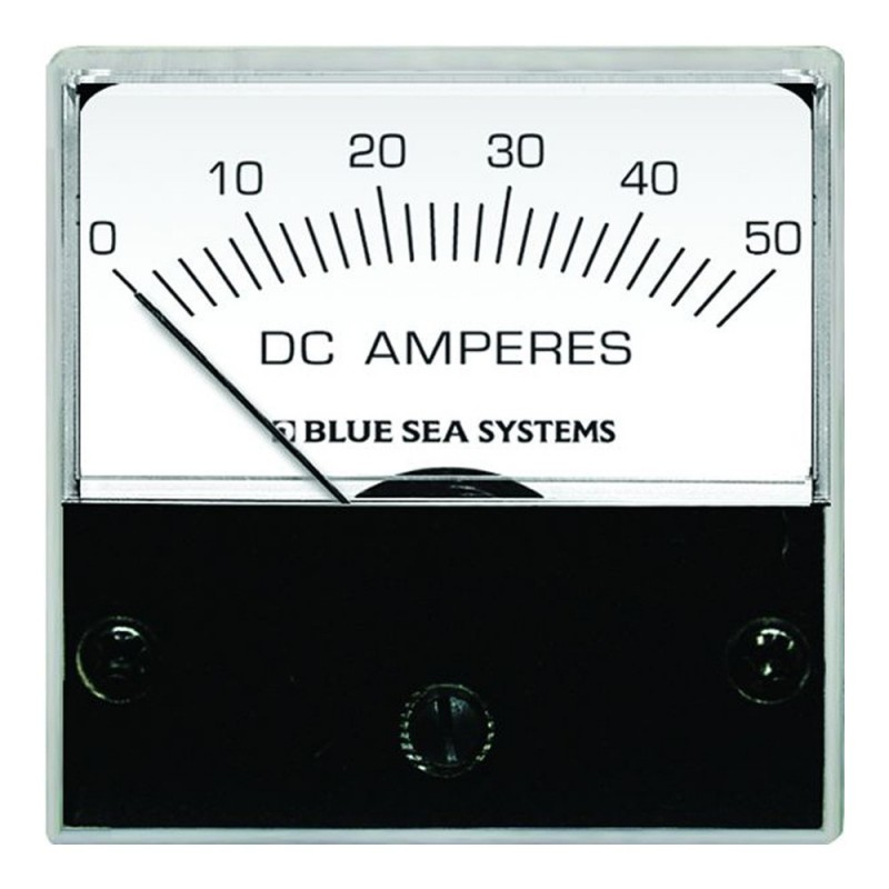 Blue Sea 8041 DC Analog Micro Ammeter - 2- Face- 0-50 Amperes DC