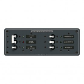 Blue Sea 8099 AC Main -4 Positions Toggle Circuit Breaker Panel -White Switches-