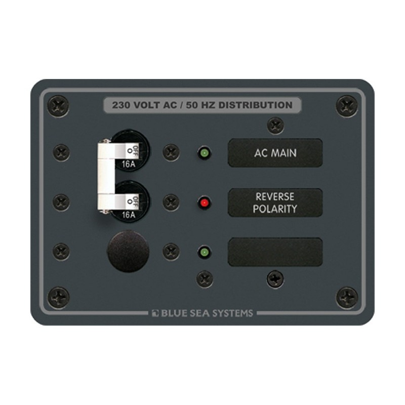 Blue Sea 8129 AC Main - Branch A-Series Toggle Circuit Breaker Panel -230V- - Main - 1 Position