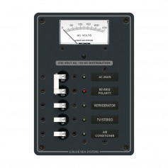 Blue Sea 8143 AC Main - Branch A-Series Toggle Circuit Breaker Panel -230V- - Main - 3 Position