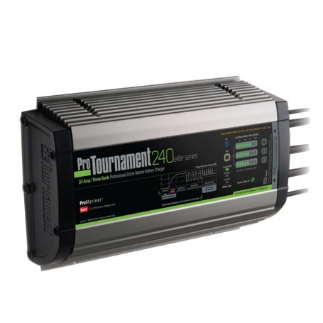 ProMariner ProTournament 240elite Triple Charger - 24 Amp- 3 Bank
