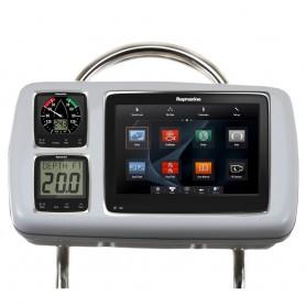 NavPod GP2080-14 SystemPod Pre-Cut f-Raymarine a95-a97-a98 - 2 Instruments f-12- Wide Guard