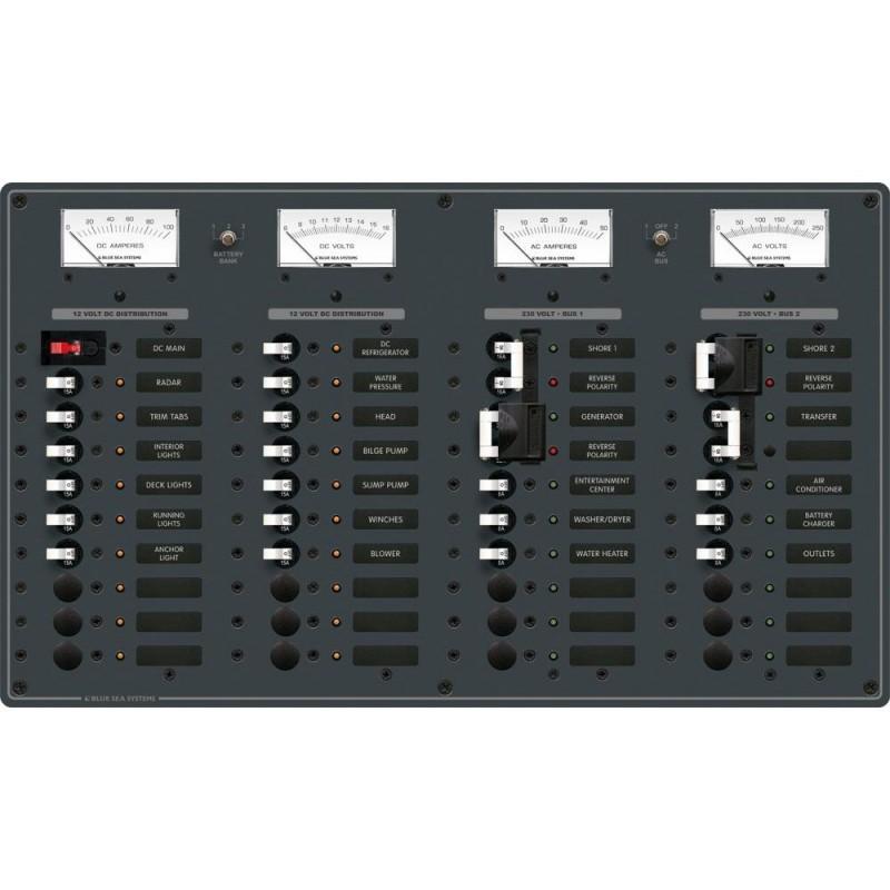 Blue Sea 8186 AC 2 Sources - 12 Positions-DC Main - 19 Positions