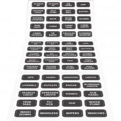 Blue Sea 8214 Black Small Format Label Kit - 60 Labels