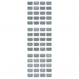 Blue Sea 8217 Grey Small Format Label Kit - 60 Labels