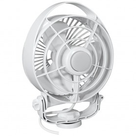 Caframo Maestro 12V 3-Speed 6- Marine Fan w-LED Light - White