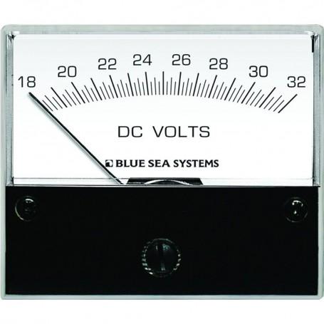 Blue Sea 8240 DC Analog Voltmeter - 2-3-4- Face- 18-32 Volts DC
