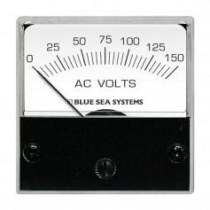 Blue Sea 8244 AC Analog Micro Voltmeter - 2- Face- 0-150 Volts AC