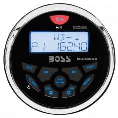 Boss Audio MGR350B Marine Gauge Style Radio - MP3-CD-AM-FM-RDS Receiver