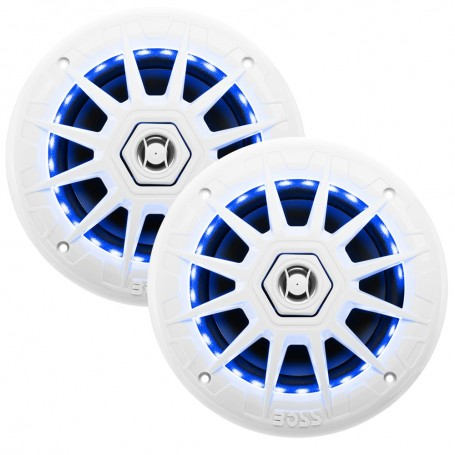 Boss Audio MRGB65 Coaxial Marine 6-5- Speakers w-RGB LED Lights