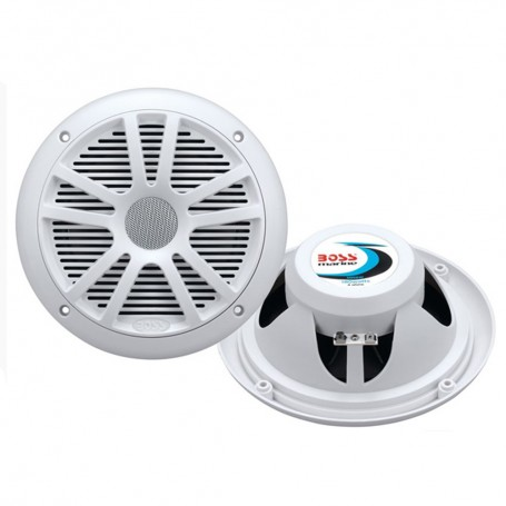 Boss Audio MR6W 6-5- Dual Cone Marine Coaxial Speaker -Pair- - 180W - White