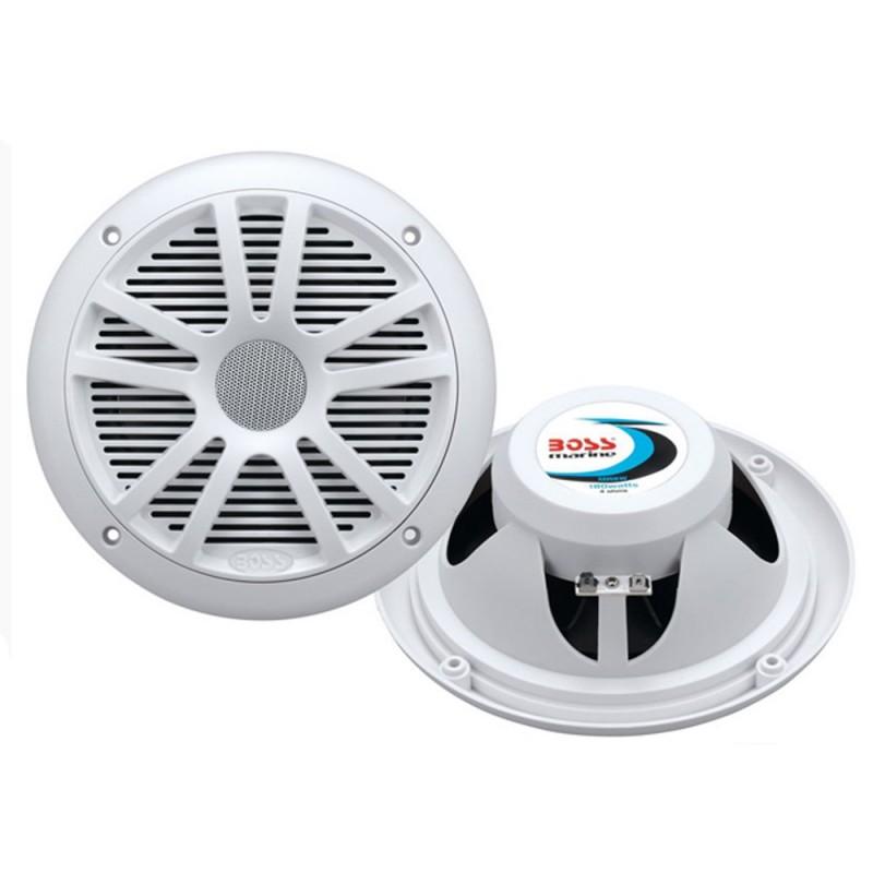 Boss Audio MR6W 6-5- Dual Cone Marine Coaxial Speaker -Pair- - 180W - White