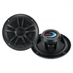 Boss Audio MR6B 6-5- Dual Cone Marine Coaxial Speaker -Pair- - 180W - Black
