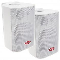 Boss Audio MR4-3W 4- 3-Way Marine Box Speakers -Pair- - 200W - White