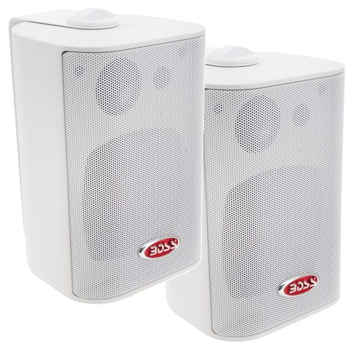 Boss Audio MR4-3W 4- 3-Way Marine Box Speakers -Pair- - 200W - White