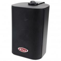 Boss Audio MR4-3B 4- 3-Way Marine Box Speakers -Pair- - 200W - Black