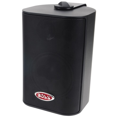 Boss Audio MR4-3B 4- 3-Way Marine Box Speakers -Pair- - 200W - Black