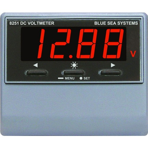 Blue Sea 8251 DC Digital Voltmeter w-Alarm