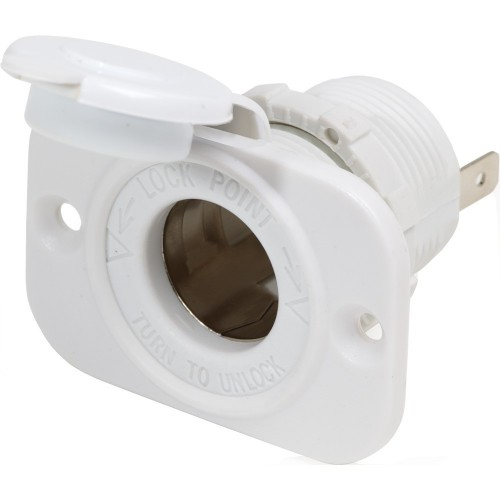 Blue Sea 12 Volt Dash Socket - White
