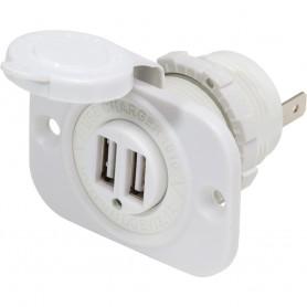 Blue Sea 12V DC Dual USB Charger Socket - White