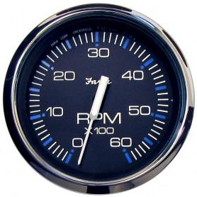 Faria Chesapeake Black 4- Tachometer - 6000 RPM -Gas- -Inboard I-O-