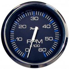 Faria Chesapeake Black SS 4- Tachometer - 6-000 RPM -Gas - Inboard - I-O-