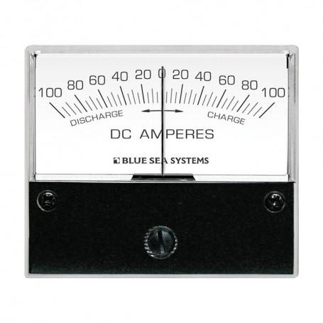 Blue Sea 8253 DC Zero Center Analog Ammeter - 2-3-4- Face- 100-0-100 Amperes DC