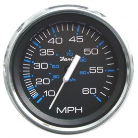 Faria Chesapeake Black 4- Speedometer - 60MPH -Pitot-