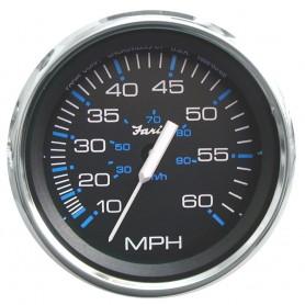 Faria Chesapeake Black SS 4- Speedometer - 60MPH -Mechanical-