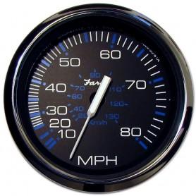 Faria Chesapeake Black SS 4- Speedometer - 80MPH -Mechanical-