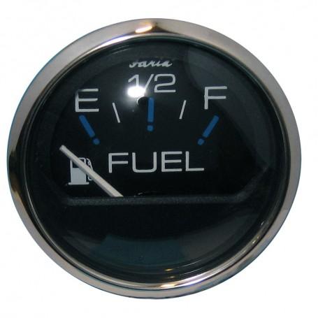 Faria Chesapeake Black SS 2- Fuel Level Gauge -E-1-2-F-
