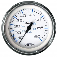 Faria Chesapeake White SS 4- Speedometer - 60MPH -Mechanical-