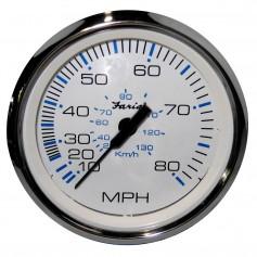 Faria Chesapeake White SS 4- Speedometer - 80MPH -Pitot-
