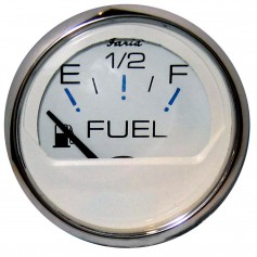Faria Chesapeake White SS 2- Fuel Level Gauge -E-1-2-F-