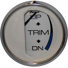 Faria Chesapeake White SS 2- Trim Gauge -Mercury - Mariner - Mercruiser - Volvo DP - Yamaha - 01 and Newer-
