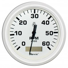 Faria Dress White 4- Tachometer w-Hourmeter - 6000 RPM -Gas- -Inboard-