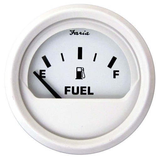 Faria Dress White 2- Fuel Level Gauge -E-1-2-F-