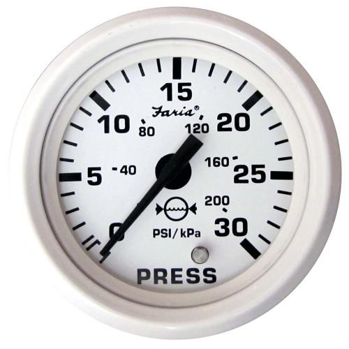 Faria Dress White 2- Water Pressure Gauge Kit - 30 PSI