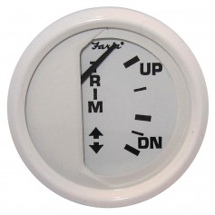 Faria Dress White 2- Trim Gauge -Mercury - Mariner - Mercruiser - Volvo DP - Yamaha 01 and newer-