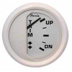 Faria Dress White 2- Trim Gauge -J-E-Suzuki Outboard-