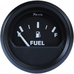 Faria Euro Black 2- Fuel Level Gauge -E-1-2-F-