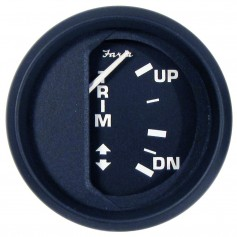 Faria Euro Black 2- Trim Gauge f- Johnson-Evinrude-Suzuki Outboard