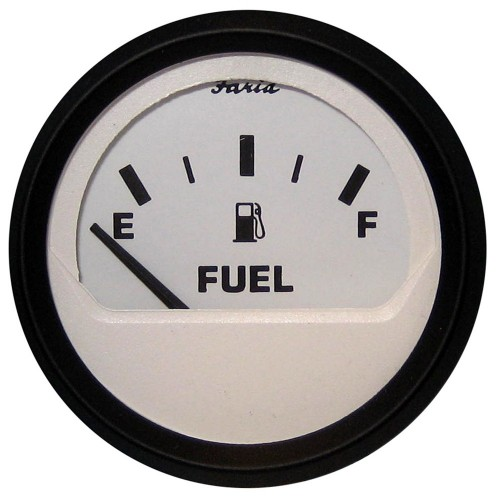 Faria Euro White 2- Fuel Level Gauge -E-1-2-F-