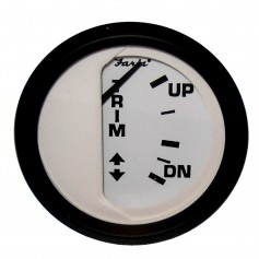 Faria Euro White 2- Trim Gauge -Mercury - Mariner - Mercruiser - Volvo DP - Yamaha-2001 and newer-