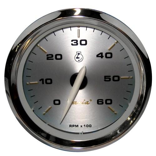 Faria Kronos 4- Tachometer - 6-000 RPM -Gas - Inboard - I-O-